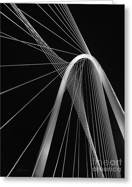 Margaret Hunt Hill Bridge Dallas Texas Greeting Card by Robert ONeil
