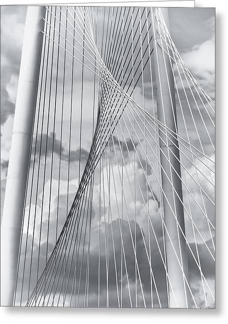 Margaret Hunt Hill Bridge Greeting Card by Joan Carroll