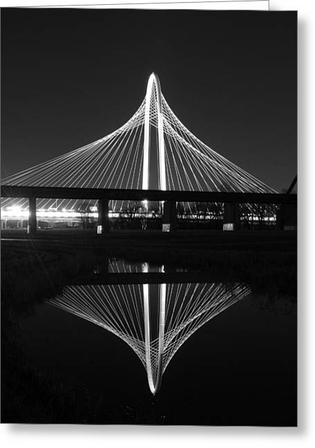 Margaret Hunt Hill Bridge Reflection Greeting Card