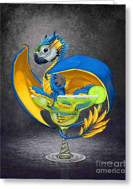 Margarita Dragon Greeting Card