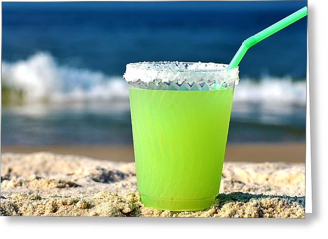 Margarita On The Beach Greeting Card