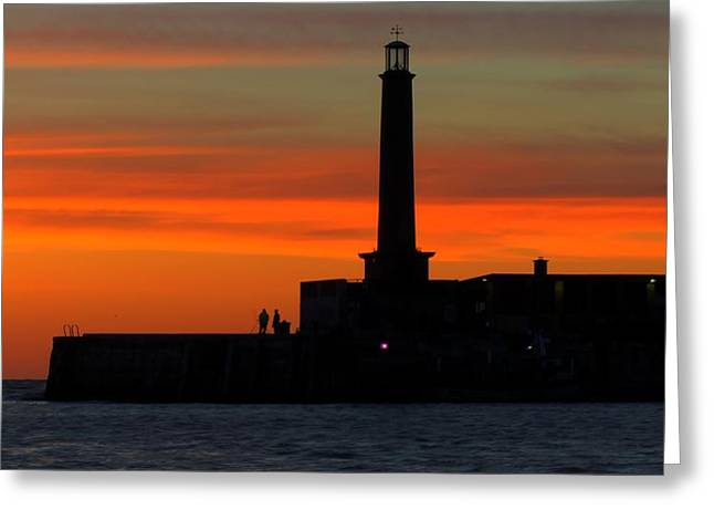 Margate Pier Sunset Greeting Card
