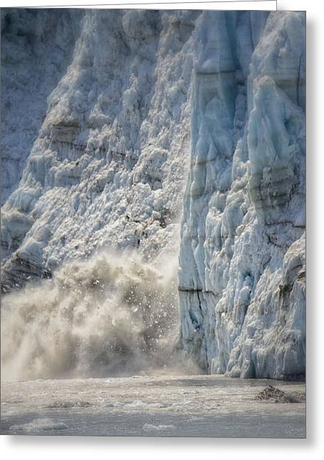 Margerie Glacier Greeting Card by Vicki Jauron