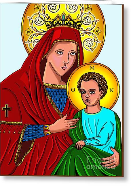 Maria And Jesus Greeting Card