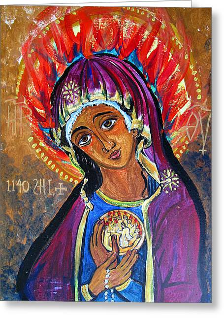Maria Of Pentecost Greeting Card