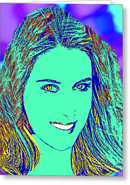 Maria Sharapova Golden Greeting Card