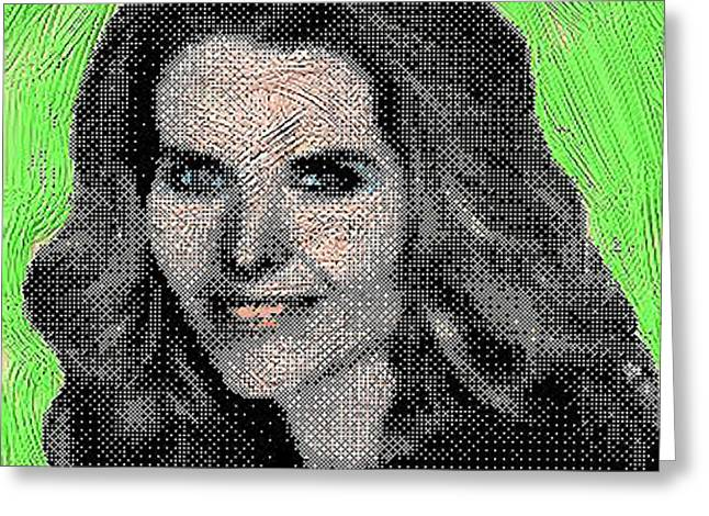 Maria Shriver Greeting Card by Gerhardt Isringhaus