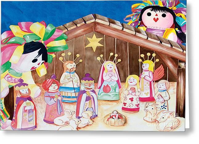 Maria Sofia And The Nativity Greeting Card