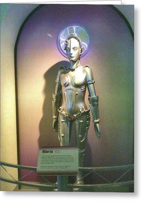 Maria The Metropolis Robot Greeting Card by Martha Nelson