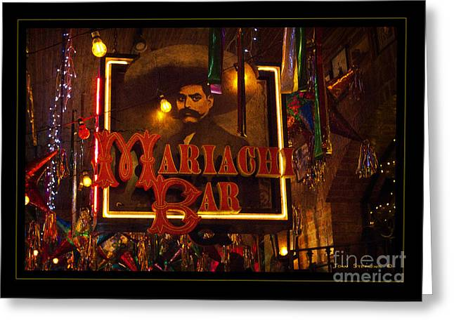Mariachi Bar Greeting Card by John Stephens