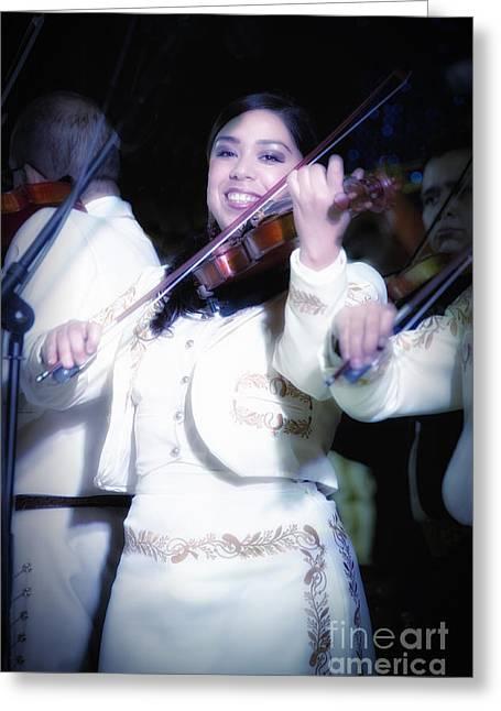 Mariachi Mujer Greeting Card