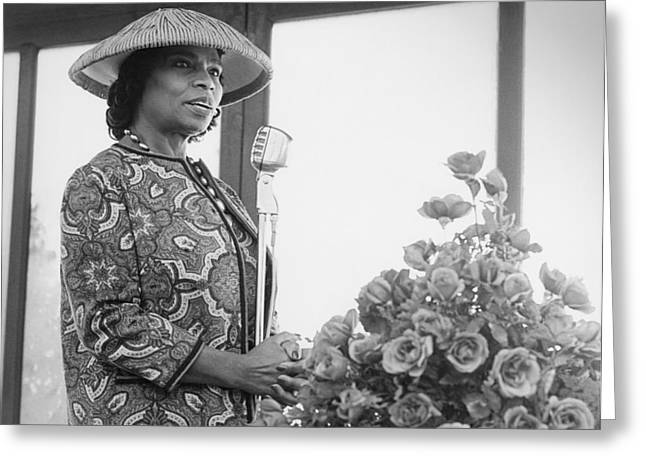 Marian Anderson Greeting Card by Underwood Archives