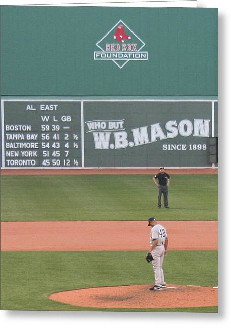 Mariano On The Mound Greeting Card by Stephen Melcher