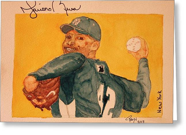 Mariano Rivera  Greeting Card by Rand Swift