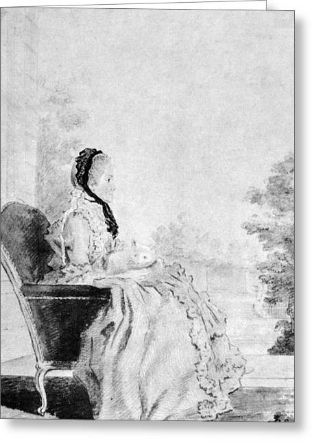 Marie De Vichy-chamrond (1679-1780) Greeting Card by Granger