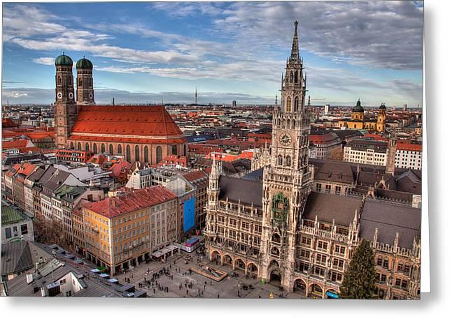 Marienplatz Greeting Card