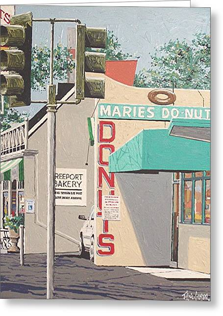Marie's Donuts Greeting Card by Paul Guyer