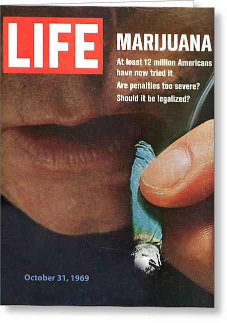 Marijuana 1969 Greeting Card by Douglas Settle