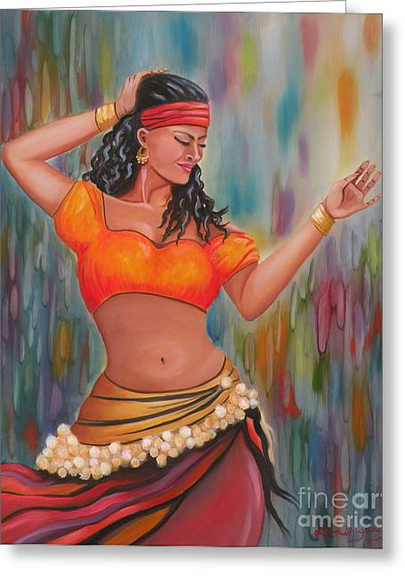 Marika The Gypsy Dancer Greeting Card