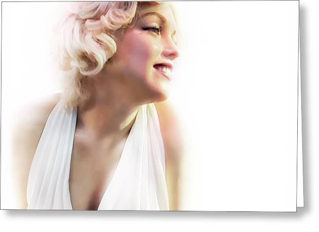 Marilyn Greeting Card by Alessandro Ciabini