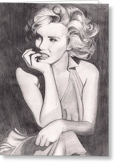 Marilyn Greeting Card by Beverly Marshall