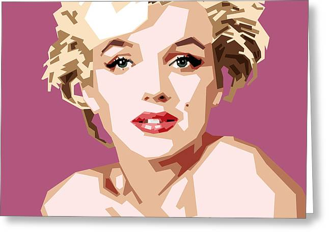 Marilyn Greeting Card by Douglas Simonson