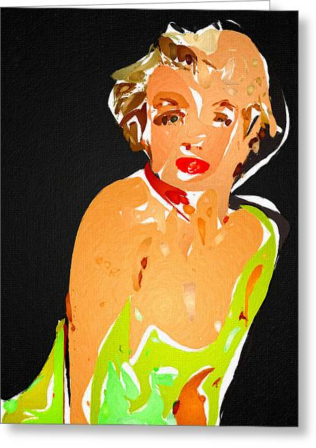 Marilyn In Wild Greeting Card