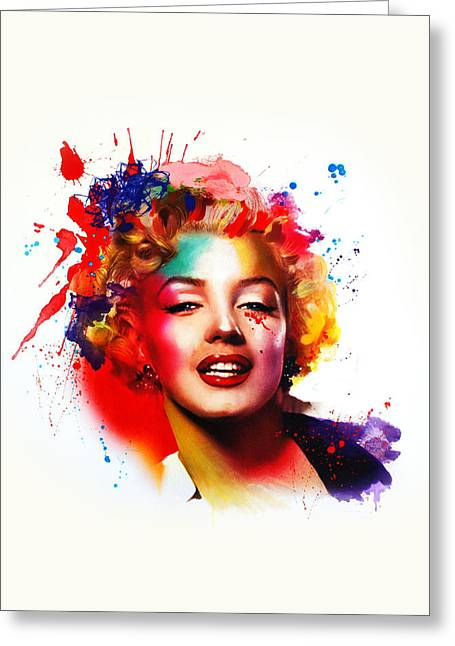 Marilyn Greeting Card by Isabel Salvador