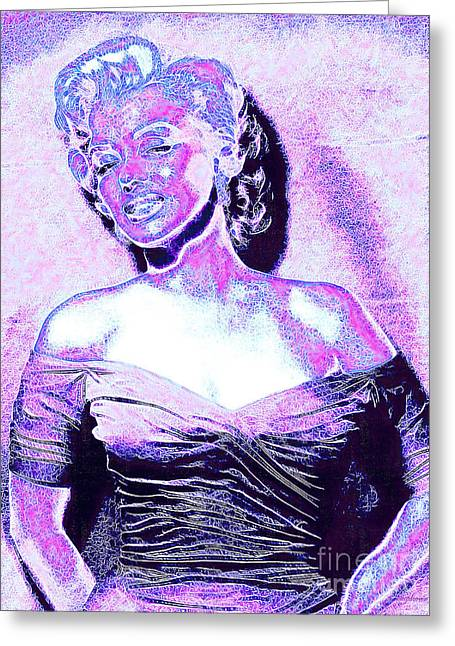 Marilyn Monroe 20130329 Greeting Card by Wingsdomain Art and Photography