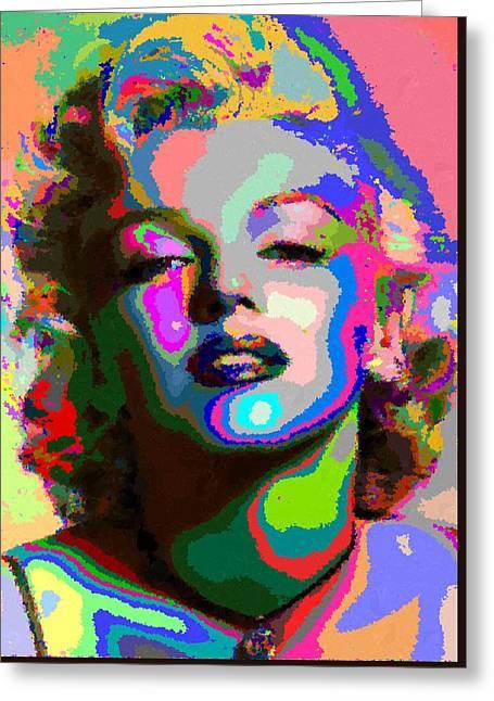 Marilyn Monroe - Abstract 1 Greeting Card