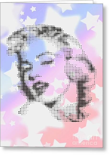 Marilyn Monroe Among White Stars Greeting Card by Rodolfo Vicente