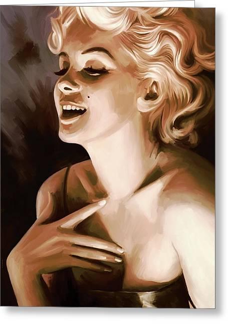 Marilyn Monroe Artwork 1 Greeting Card by Sheraz A