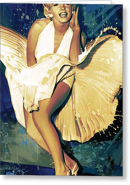Marilyn Monroe Artwork 4 Greeting Card by Sheraz A
