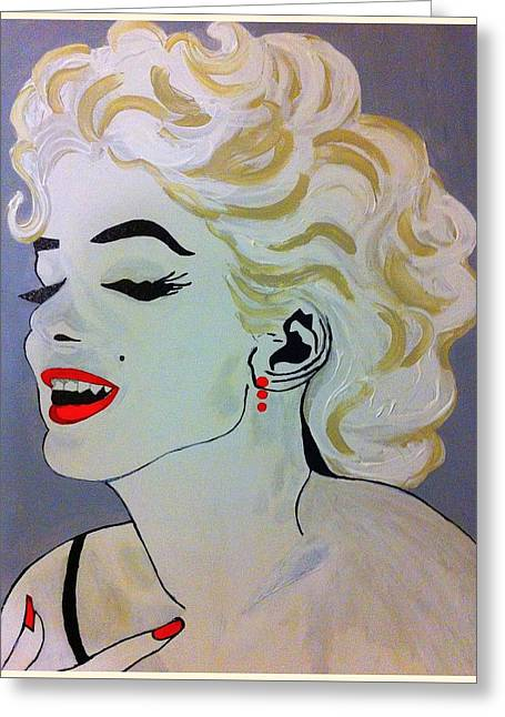 Marilyn Monroe Beautiful Greeting Card by Saundra Myles
