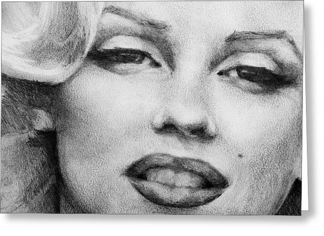 Marilyn Monroe - Close Up Greeting Card