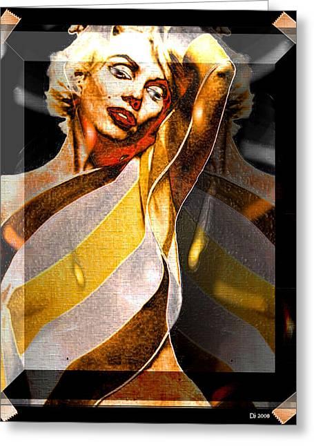 Greeting Card featuring the digital art Marilyn Monroe by Daniel Janda