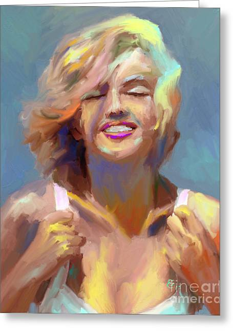 Marilyn Monroe Greeting Card by GCannon