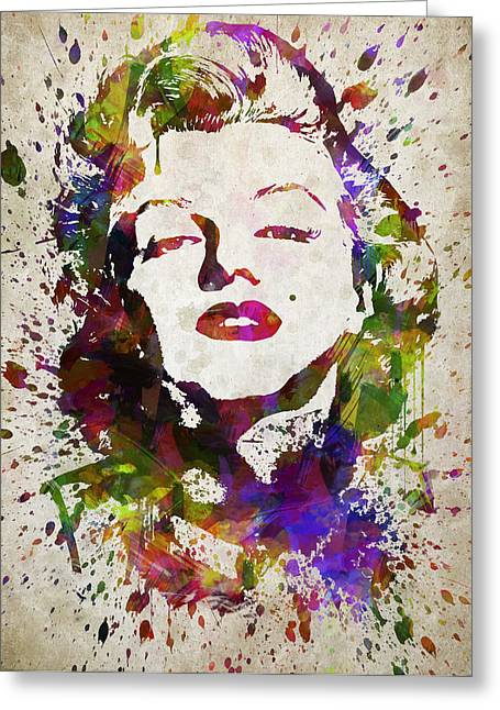 Marilyn Monroe In Color Greeting Card by Aged Pixel