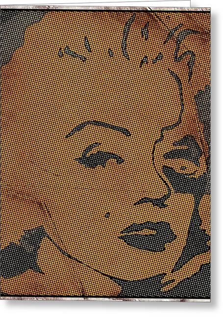 Marilyn Monroe In Pop Art Greeting Card by Robert Margetts