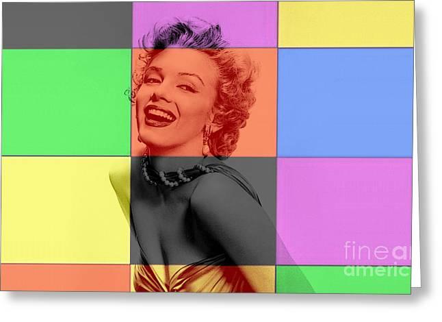 Marilyn Monroe Greeting Card by Marvin Blaine