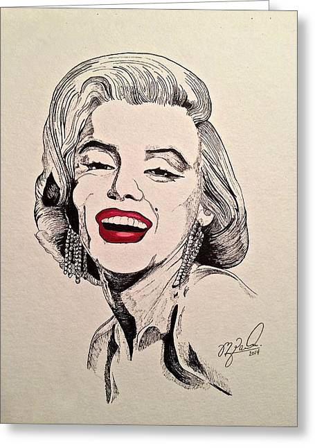 Marilyn Monroe Greeting Card by Michael  Parrella
