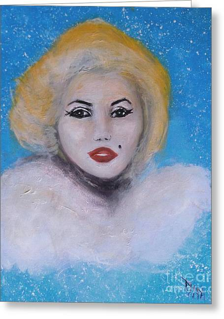 Marilyn Monroe Out Of The Blue Into The White Greeting Card