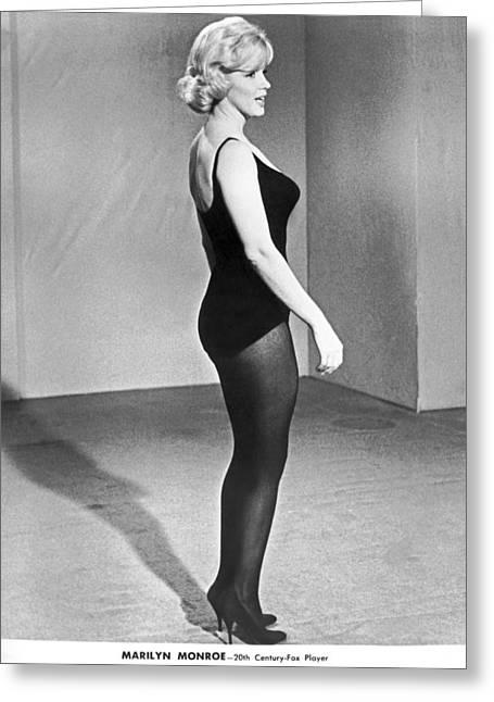 Marilyn Monroe Profile Greeting Card