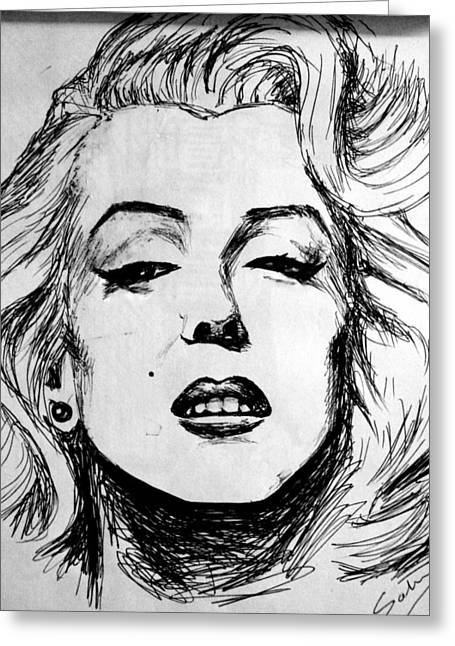 Marilyn Monroe Greeting Card by Salman Ravish