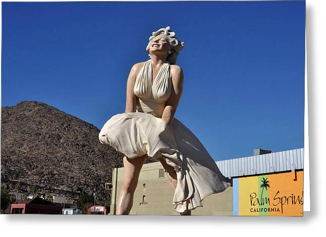 Marilyn Monroe Statue In Palm Springs California Greeting Card