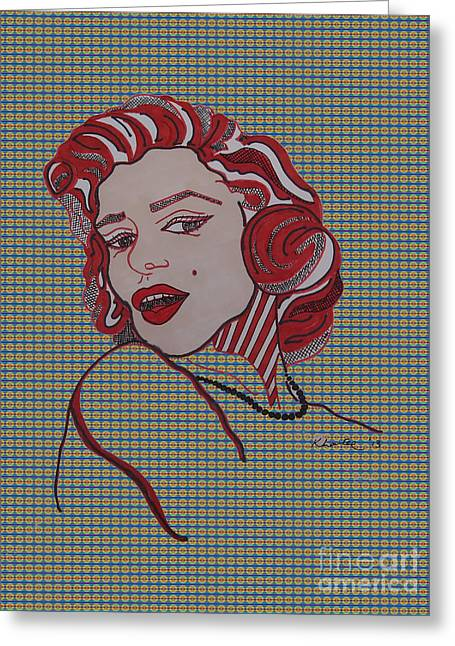 Marilyn Monroe Tartan Greeting Card