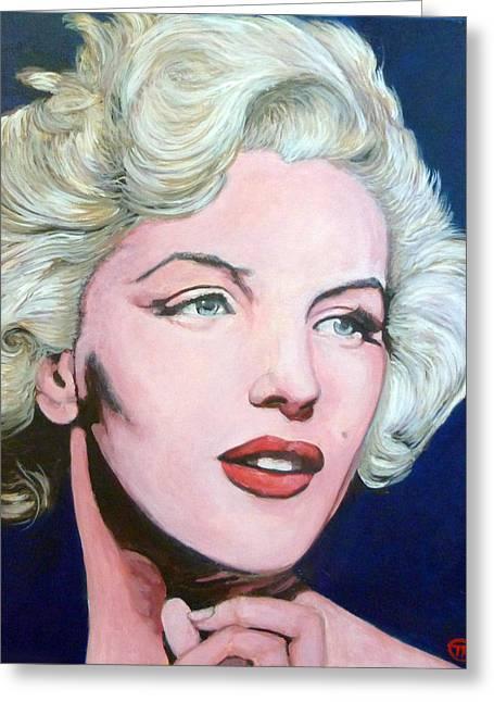 Marilyn Monroe Greeting Card by Tom Roderick