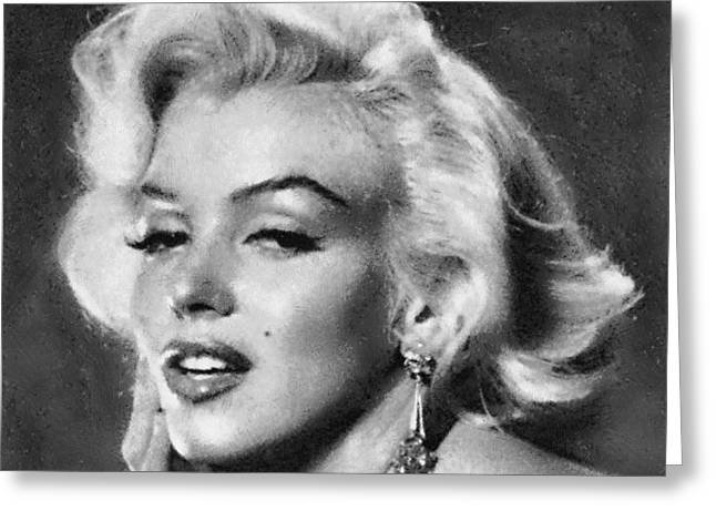 Beautiful Marilyn Monroe Unique Actress Greeting Card