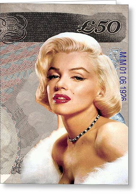 Marilyn Monroe Greeting Card by Unknown