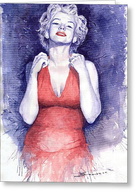 Marilyn Monroe Greeting Card by Yuriy  Shevchuk